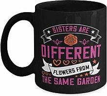 Mug à café Sister – Sisters are different