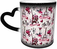 Mug à changement de couleur avec motif paysage