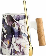Mug avec couvercle, tasse a the en ceramique,