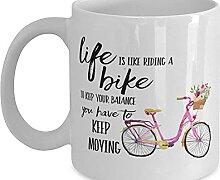 Mug avec inscription « Life is Like Riding A Bike