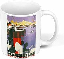Mug Céramique Marseille Bateaux Affiche Poster