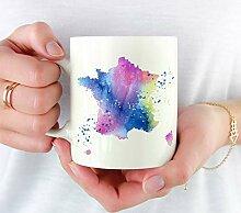 Mug de France - Cadeau de France - Aquarelle - Mug