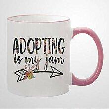 Mug en céramique avec inscription « Adopting is