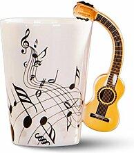 Mug en céramique Evazory avec manche de guitare,