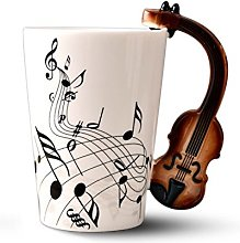 Mug en céramique Evazory avec manche en violon,