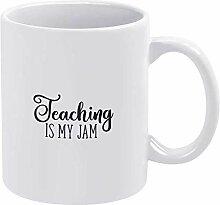 Mug en céramique « Teaching is My Jam » pour