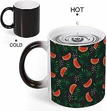 Mug fantaisie réactif à la chaleur changeant de