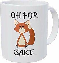 Mug humoristique Oh for Fox Sake – Tasse à