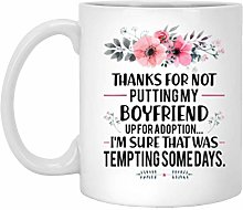 Mug humoristique « Thanks for Not Putting by Boy