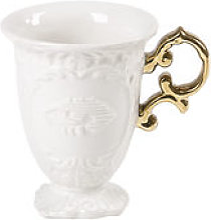 Mug I-Mug - Seletti blanc/or en céramique