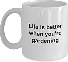 Mug Master Gardener avec inscription « Life is