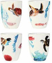 Mug Océan / Set de 4 - Porcelaine - & klevering