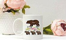 Mug personnalisé avec inscription « Mama Bear »