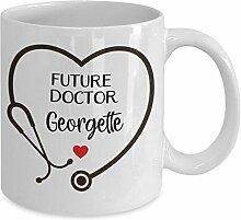 Mug-personnalisé futur docteur tasse de café,