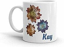 Mug personnalisé tasse de fleur monogrammée