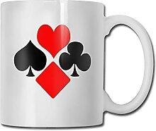 Mug Tasses Spades Hearts Flowers Tasse en