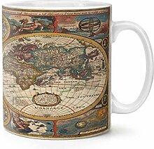 Mug vintage carte du monde