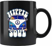 Mug vintage Van Hippie Soul pour amateur de