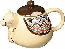Mugs LAMAPOT Théière Llama, Céramique, Beige,