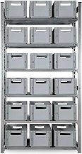 Multiroir - Kit Etagère métallique + 18 bacs -