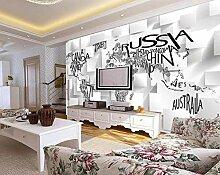 MUNXIN Wallpaper Papier Peint Panoramique 3D Carte
