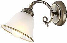 Mur lampe salon éclairage verre satiné laiton