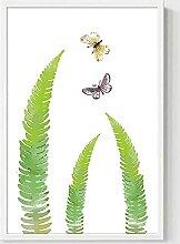 Murale Decoratif Simple Nordique Arbre Herbe
