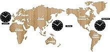 Murale horloges murales carte horloge grande