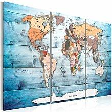 murando Carte du Monde 120x80 cm Tableau en Liège