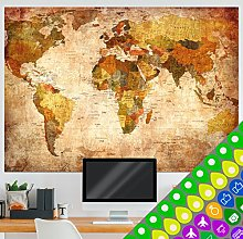 murando - Carte du monde design XXL - recto verso