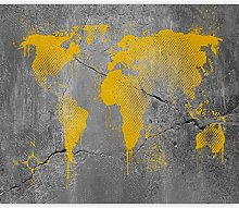 murando Papier Peint Adhésif Carte du monde
