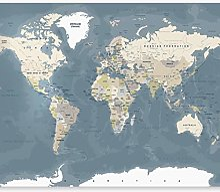 murando Papier Peint Adhésif Carte du monde 98x70