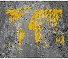murando Papier peint intissé Carte du monde