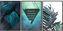 murando Set de 3 Affiches Tableaux Impression