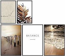 murando Set de 5 Affiches Tableaux Impression