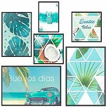 murando Set de 6 Affiches Tableaux Impression