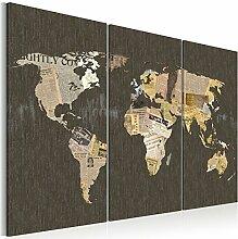 murando Tableau Acoustique Carte du Monde 120x80