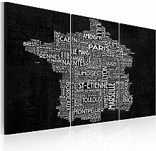 murando Tableau Acoustique Carte du Monde 135x90