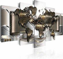 murando Tableau Acoustique Carte du Monde 200x100