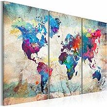 murando Tableau Acoustique Carte du Monde 200x80