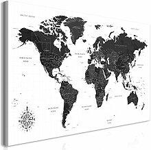 murando Tableau Mega XXXL Carte du Monde 160x80 cm
