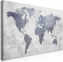 murando Tableau Mega XXXL Carte du Monde 170x85 cm