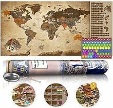 murando Version Anglaise Carte du Monde a gratter