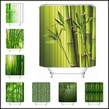 Musife – rideau de douche en bambou,