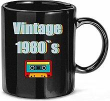 Musique des années 80 tasse à café vintage des
