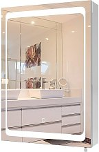 MVPOWER Armoire de toilette LED, miroir de salle