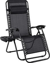 MVPOWER Chaise longue de jardin, pliable, avec