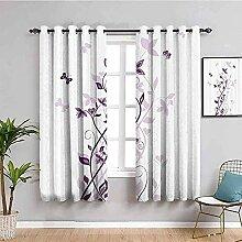MXYHDZ Rideaux Occultant Chambre - Violet Fleurs