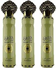 My Perfumes Lot de 3 Vaporisateurs Awwal Oud 300ml