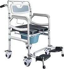 MY1MEY Chaise Percée à roulettes WC De